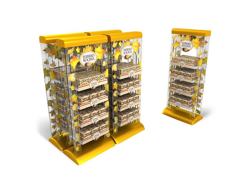 超市巧克力透明收纳柜