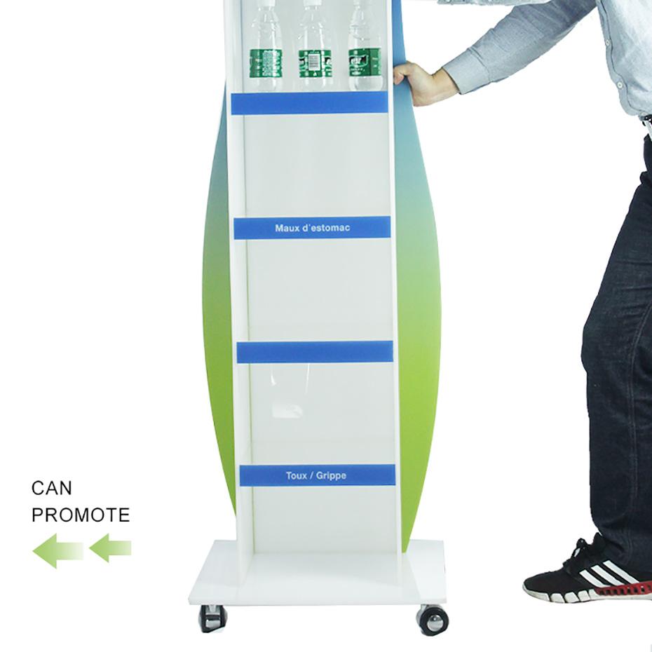 亚克力立式可移动饮料货架