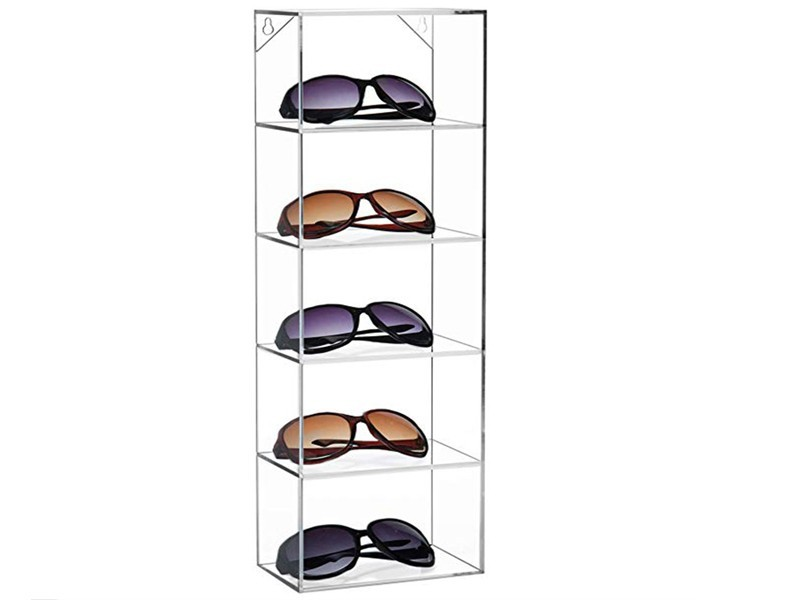 壁挂式眼镜展示架储物盒