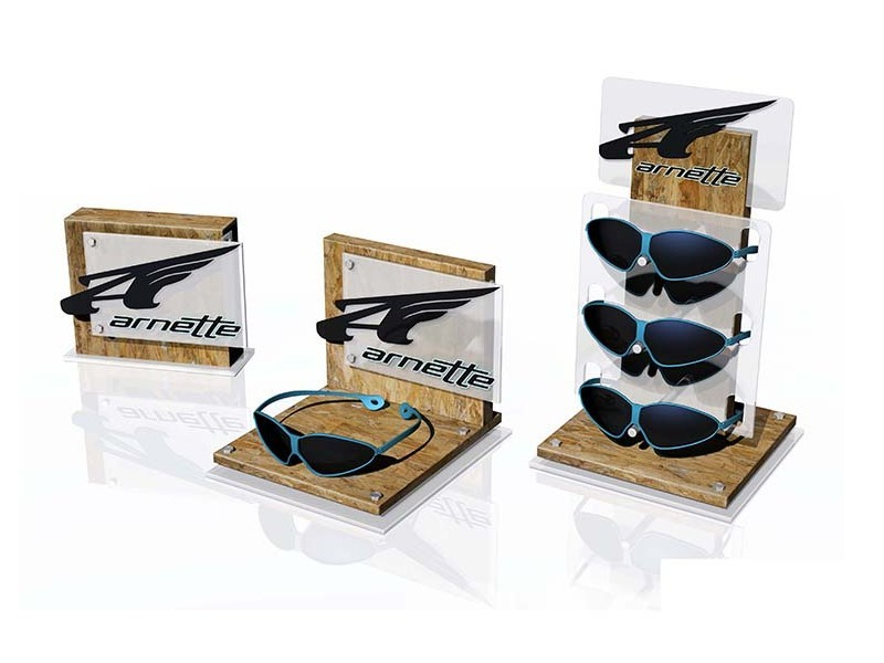 桌面组合品牌眼镜展示台