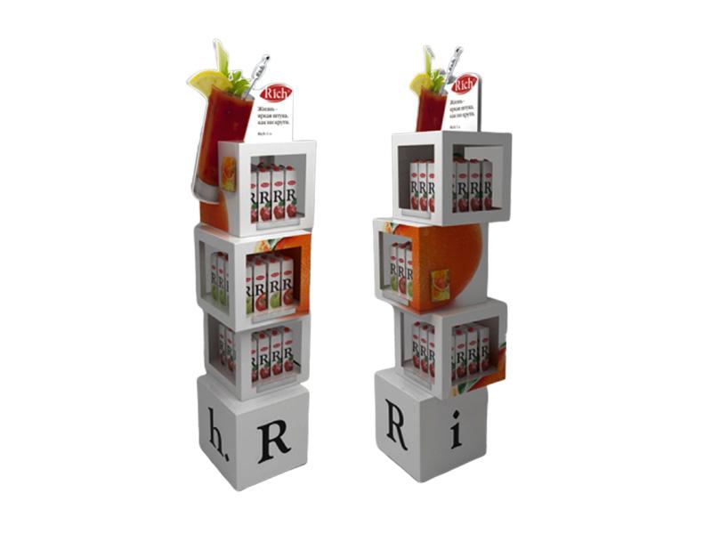 果汁饮料广告展示架