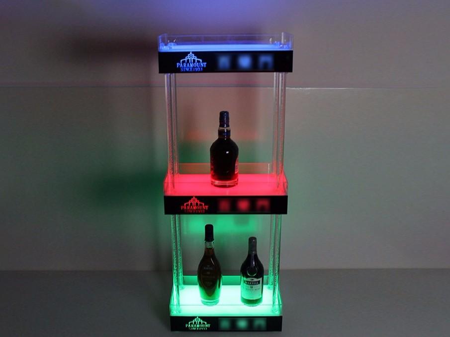 三层洋酒展示架